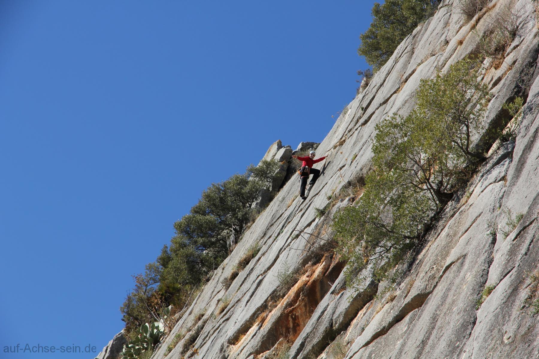 Spanien, El Chorro, klettern