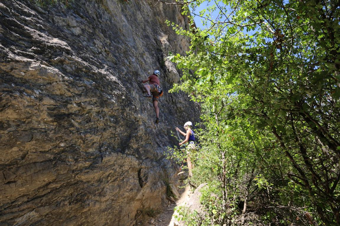 Klettern L'horloge Briançon 01