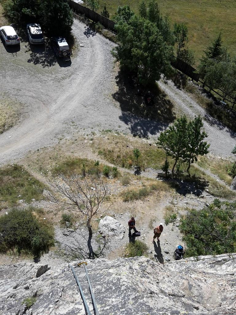 Klettern Rocher Baron Briançon 01