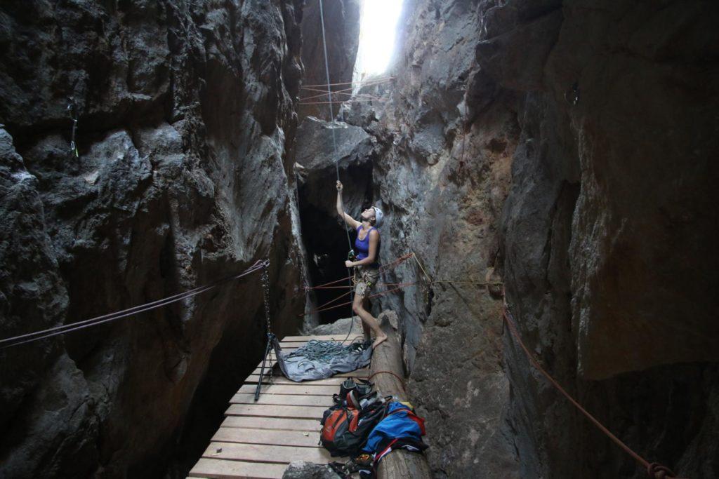 Sichern im Canyon