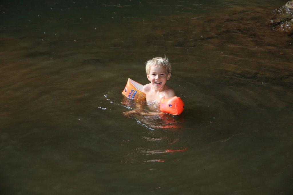 Baden und Schwimmen