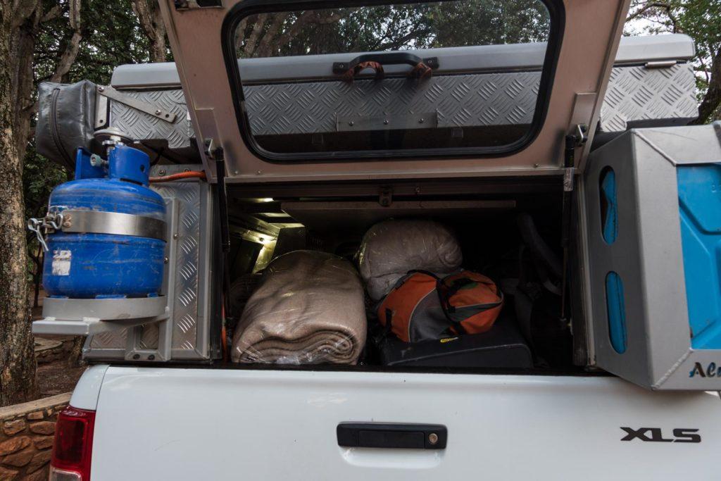 Vollbepackt in Südafrika