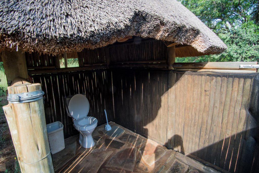 Toilette ohne Tür
