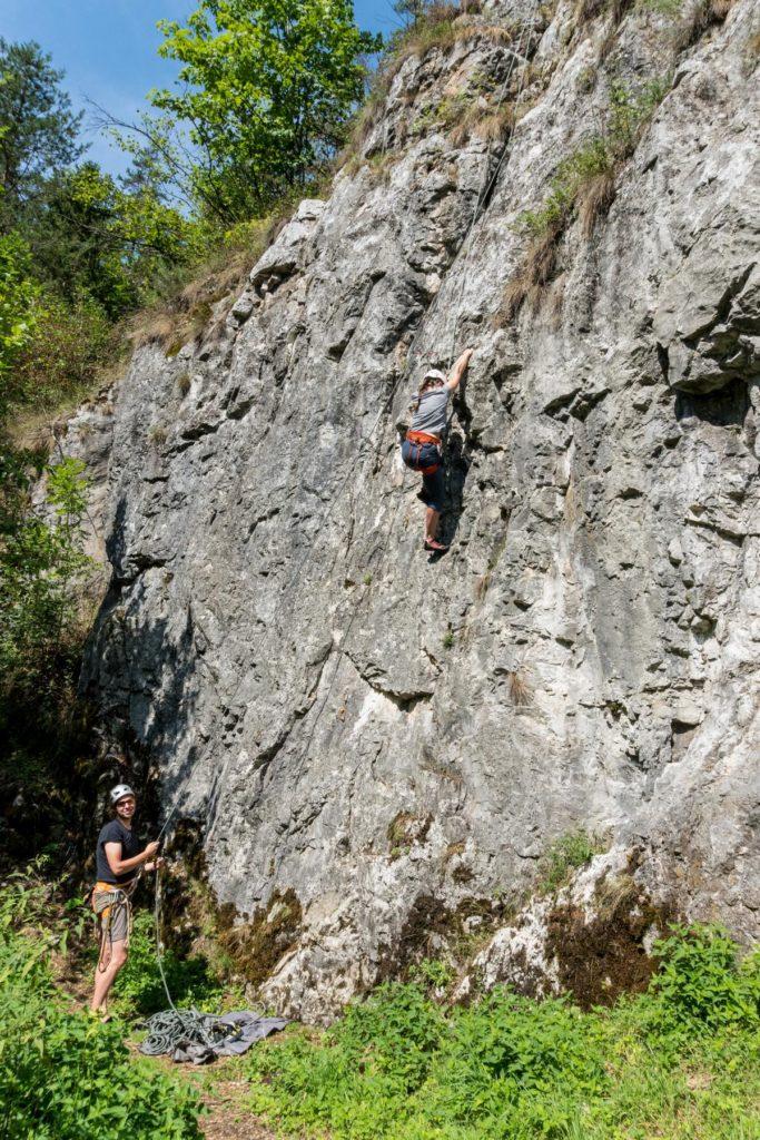 im Klettergebiet